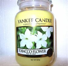 "Yankee Candle ""TOBACCO FLOWER""  22 oz.~ EUROPEAN RELEASE ~ TAN LABEL ~ NEW"