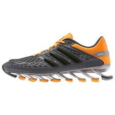 New Mens Adidas Springblade Razor Running Shoes sz 12 Grey Solar Zest D66213