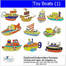 Embroidery Design CD - Toy Boats(1) - 10 Designs - 9 Formats - Threadart
