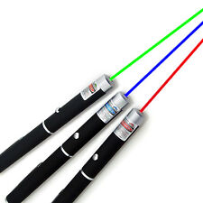 3PCS Powerful Green+ Blue Violet + Red Light Beam Powerful 5MW Light Pointer Pen