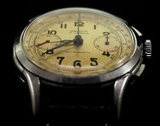 Orloff Vintage Swiss Military Chronograph Watch 1950s Serviced New Leather Band