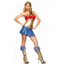 Ladies Wonder Woman Super Hero Fancy Dress Hen Party Costume Size 8 - 10