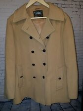 Mackintosh Women's Camel Tan Double Breasted 100% Wool Authentic Peacoat Size 12
