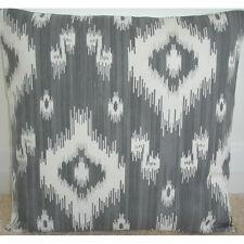 "24"" Large Cushion Cover Grey and Ivory Cream Aztec Diamonds Neutrals Sofa Back"