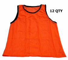 WORKOUTZ YOUTH SCRIMMAGE VESTS ORANGE (12 QTY) SOCCER PINNIES MESH CHILD KIDS