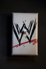 WWE scratch logo Light Switch Cover Wrestling boys girls bedroom room decor wwf