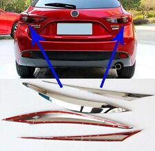 For Mazda 3 M3 Axela hatchback(5DR) 2014-2016 ABS Chrome Tail light Cover Trim
