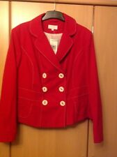 Marks & Spencer's  Red White Jacket Size 20 RRP £59 NEW TAGS