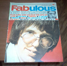 Fabulous Magazine 1966 UK The Who Small Faces Twiggy Walker Bros Vintage Music