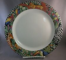 Sakura Magic Jungle 1 Dinner Plate Sue Zipkin animals 1995 parrot giraffe zebra