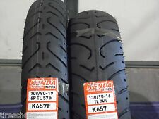 TWO TIRE SET MOTORCYCLE TIRES WITH TUBES 100/90-19 FRONT 130/90-16 REAR K657