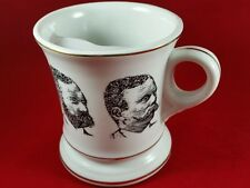 VINTAGE MOUSTASH MUG W/ DRINKING GUARD 8oz  BEARDED AND MOUSTASHED MEN EXC COND