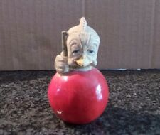 Vintage Collectible Eggbert by M Bowmer Ornament Figurine Cuetee Bowling Ball