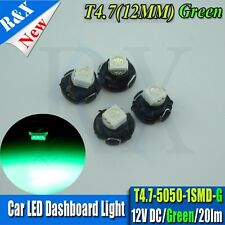 4PCS Green T5 T4.7 Neo Wedge Halogen Bulbs Dashboard DC12V Climate Light 12MM