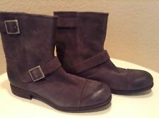 Australia UGGS Men's Brown Leather Mid-Calf Boots Size 10 M NEW