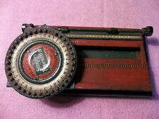 Old Vintage Simplex Typewriter  Model NUMBER 100 Child's Tin Toy Functional! USA