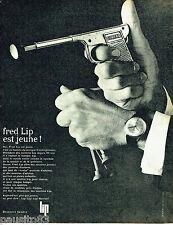 PUBLICITE ADVERTISING 096  1962  la montre Fred Lip