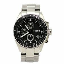 Fossil Men's Decker CH2600 Matte Silver Stainless Steel Chronograph Dial Watch