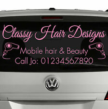 MOBILE HAIRDRESSER - Window advert sticker for car your business - beauty (S1)