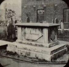 Isaac Watt's Tomb, Bunhill Fields Burial Grounds, UK, Magic Lantern Glass Slide