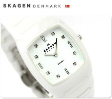 SKAGEN LADIE'S ULTRA SLIM CERAMIC CRYSTALS WATCH 914SWXC