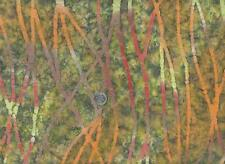 Fabric BTY-  Textile Creations Gypsy Green Ivory Orange Orchid Rust Abstract