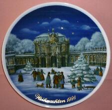 Piatto porcellana tedesca Royal Tettau Natale-Christmas 1991