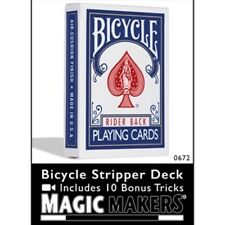 Stripper Deck of Bicycle Playing Cards - Poker Size -As Seen On TV- Red or Blue