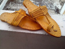 Women Sandal US 6,7,8,9,10 Handmade Leather Shoes Flip Flop Kolhapuri Mojari