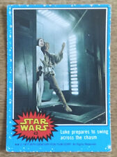 Toops Star Wars trading card blue series, 43 Luke prepares to swing across the c