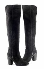 $300 DOLCE VITA 'Ohanna' Black Suede Leather Over the Knee Boots, Size 7