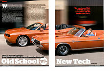1970 DODGE CHALLENGER R/T / 2010 CHALLENGER ~  NICE 4-PAGE ARTICLE / AD