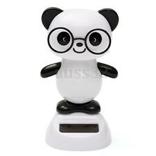 Solar Powered Dancing Panda Flip Flap Car Home Desk Animal Dancer Toy Gift