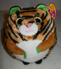 "TY BEANIE BALLZ ""MONACO THE TIGER""  2011, SUPER SOFT, 13 1/2"" AROUND, NWT'S!"