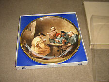 "LOVELY BOXED VINTAGE PLATE "" A GAME OF CARDS"" STAFFORDSHIRE LORD NELSON POTTERY"