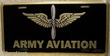 Aluminum Military License Plate Army Aviation Emblem NEW Made in USA