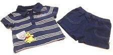 Disney Outfit 3-6 Months Baby Boy Winnie the Pooh Short Sleeve Shirt Shorts Blue