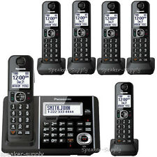 Panasonic Machine 6 Cordless Handsets Call Block ID KX-TGF345B + KX-TGFA30B