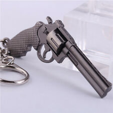 Popular Hot Fire Weapon Gun Key Chains Cool CF Metal Pistol Keychains Key Rings