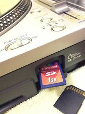 TECHNICS sl-dz-1200 sldz1200 SD Card 1GB SERATO E TRAKTOR / VIRTUAL DJ / TORQ & More