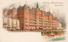 Hotel Metropole Brighton artist illustrated unused old pc
