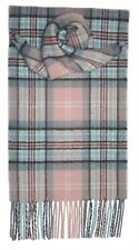 100% Pure New Wool Princess Diana Rose Tartan Scarf - Made in Scotland