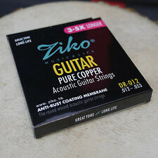 ziko acoustic guiter strings pure copper 012-053