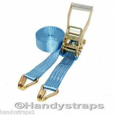 6 meter x 50mm Blue  Ratchets Tie Down Straps  5 tons Lorry Lashing