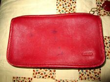 Coach Butter Soft Deep Red Leather Large Coin Purse/wallet