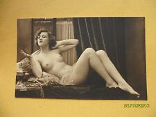 Original french 1910's-1920's nude risque postcard sexy lady fixer poser #54