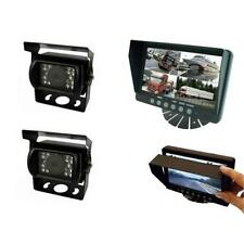PARKSAFE ps025c102 coche Van 7 Pulgadas Entrada cuádruple parking Monitor invertir 2 Cámara CCD