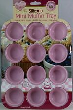 New Non-Stick Silicone Mini Muffin Baking Tray Dishwasher Freezer Oven Safe