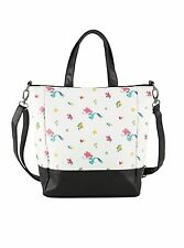 Disney The Little Mermaid Ditsy Print Purse Tote Bag Licensed Loungefly NEW!