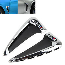 2Pcs Chrome Door Side Vent Air Outlet Cover Trim Wing ABS For X5 F15 2014 2015